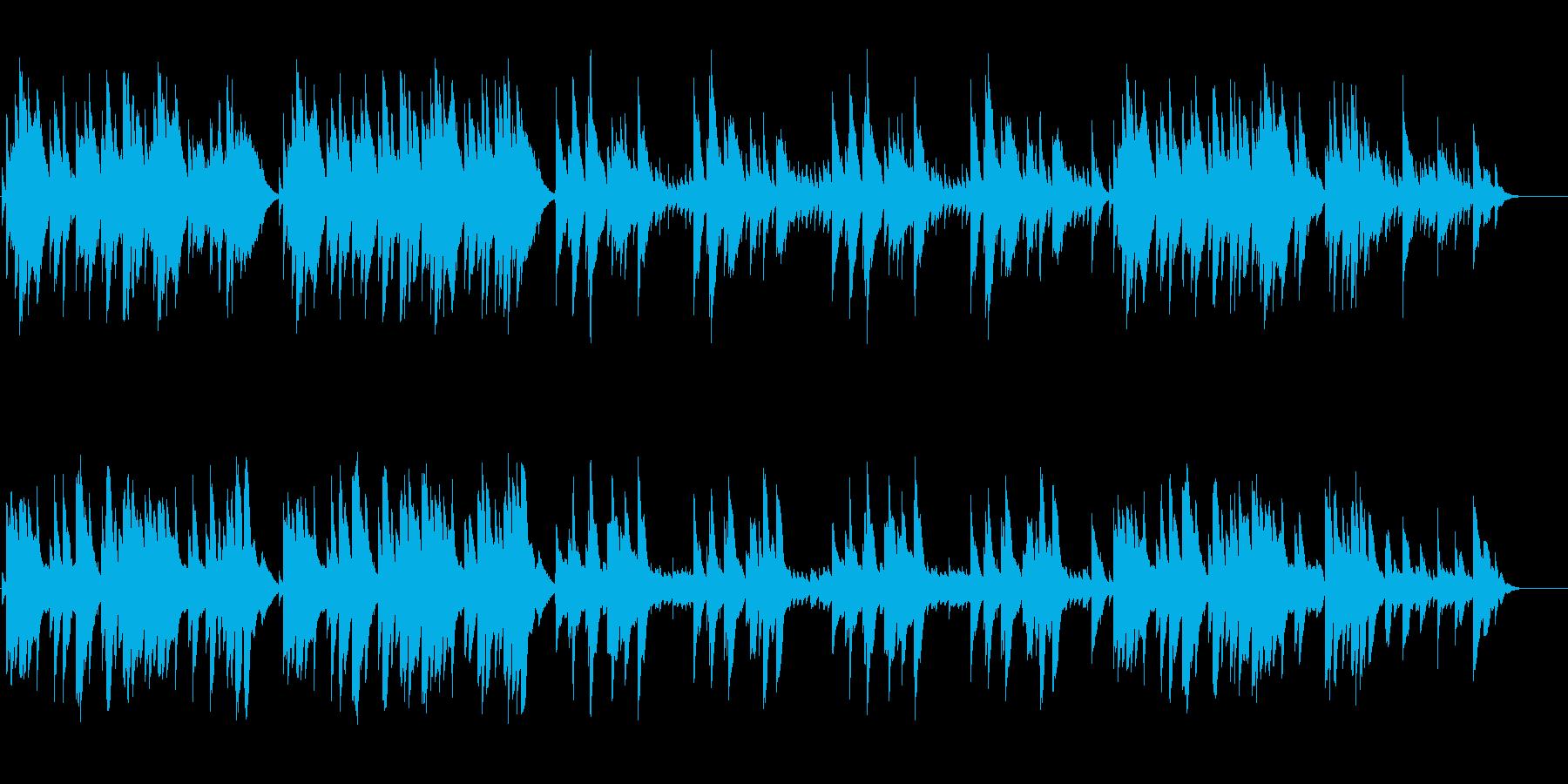 回想や思い出をイメージしたオルゴール曲。の再生済みの波形