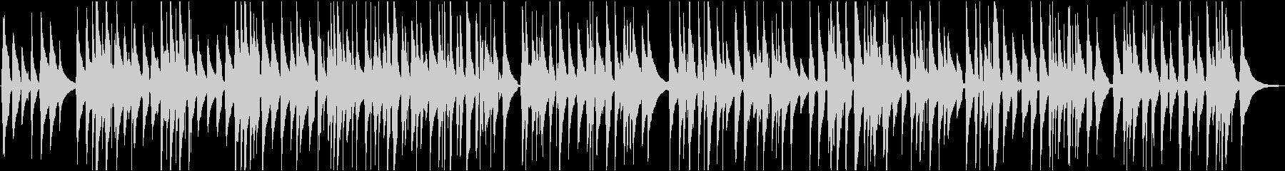 ウクレレのゆったりリラックスした曲の未再生の波形
