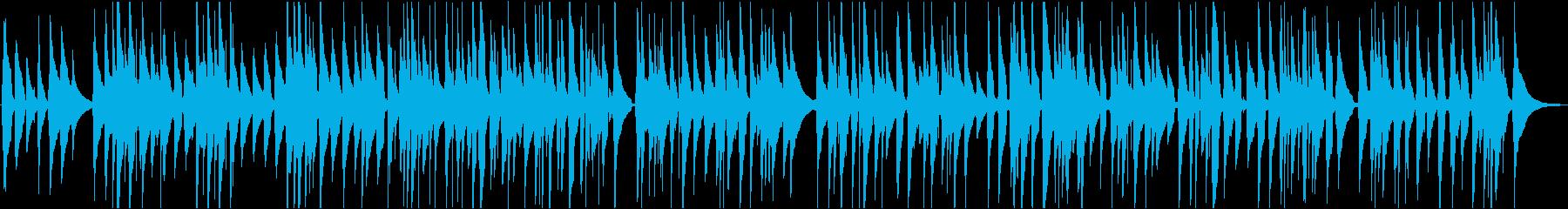 ウクレレのゆったりリラックスした曲の再生済みの波形