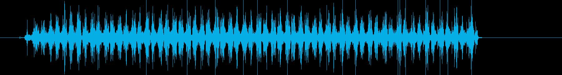 ギーコギーコ何かを擦っている音の再生済みの波形