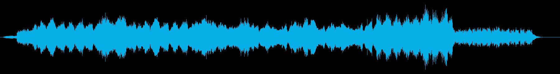 紡ぎだす流れをイメージしたBGMの再生済みの波形