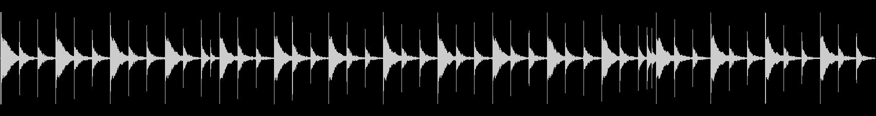 マリンバの静かな雰囲気。3拍子の未再生の波形