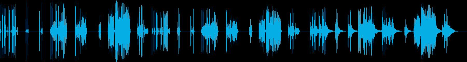 サンプル&ホールド、7バージョンX...の再生済みの波形