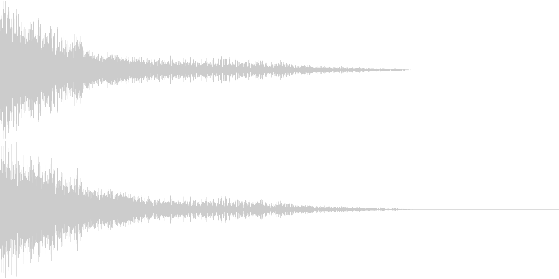 衝撃 金属音 恐怖 震撼 ホラー 29の未再生の波形