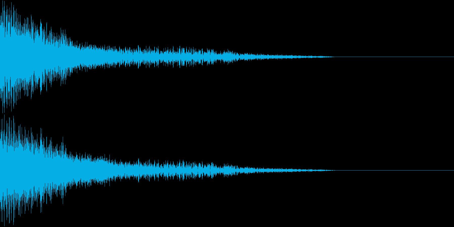 衝撃 金属音 恐怖 震撼 ホラー 29の再生済みの波形