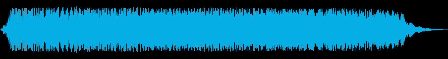 時空を超えてワープしてくるイメージ音の再生済みの波形