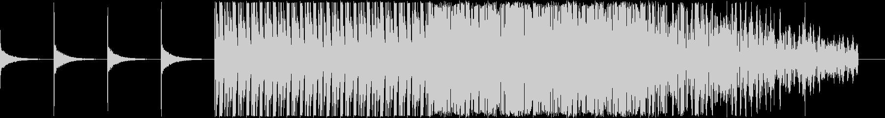 浮遊感ある中にノイズが混ざった電脳音楽の未再生の波形