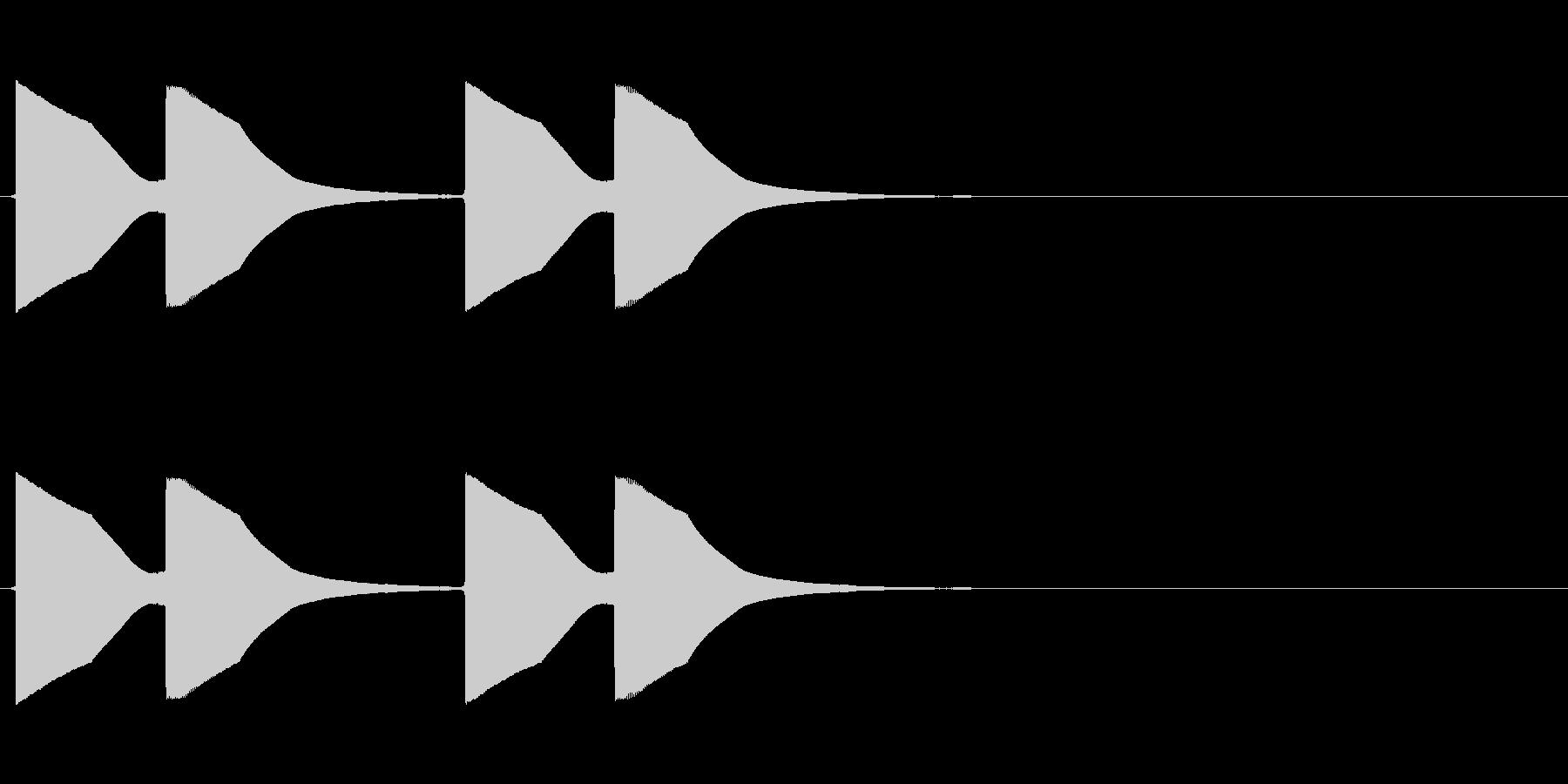 ドアベルの未再生の波形