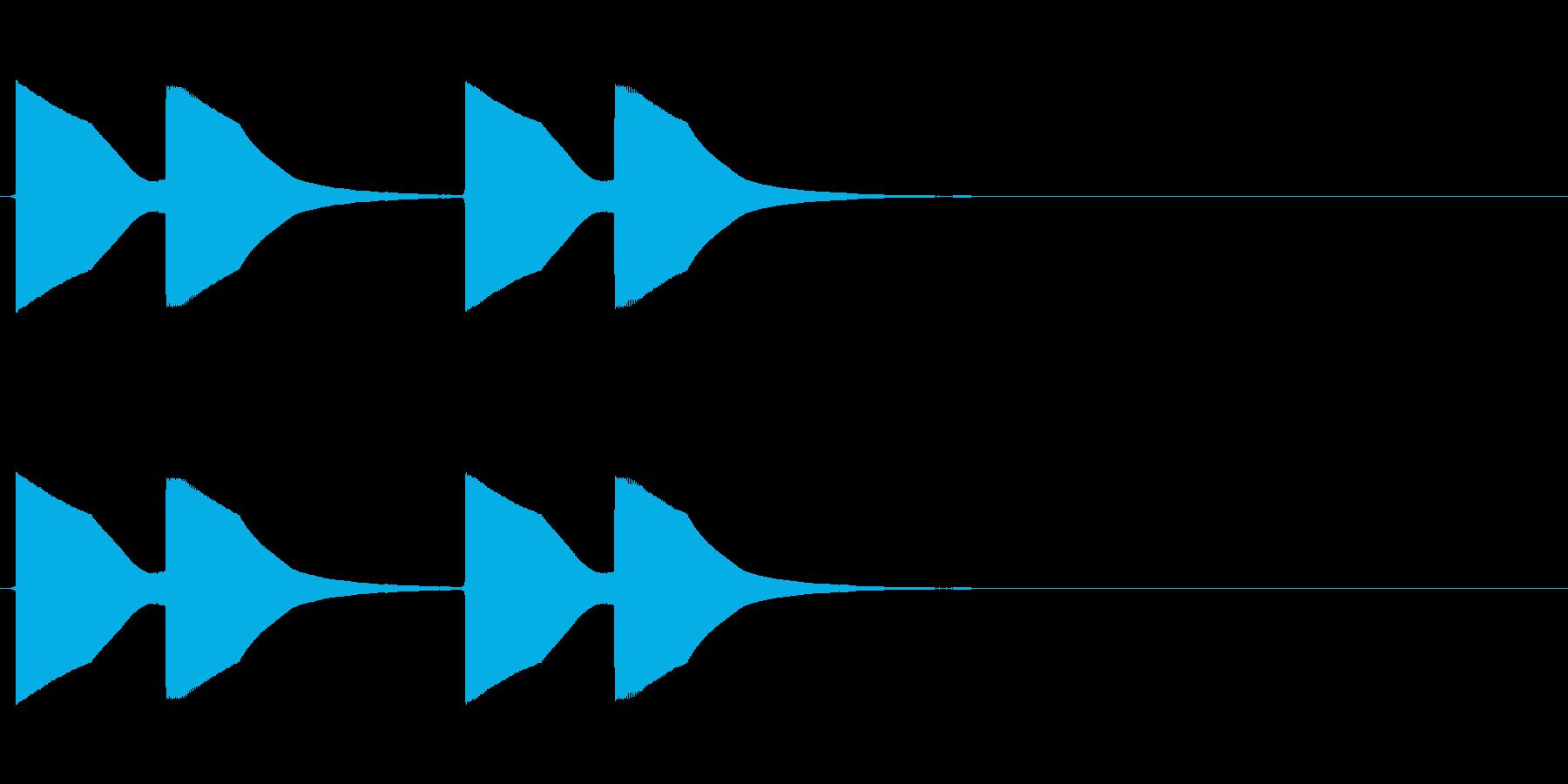 ドアベルの再生済みの波形