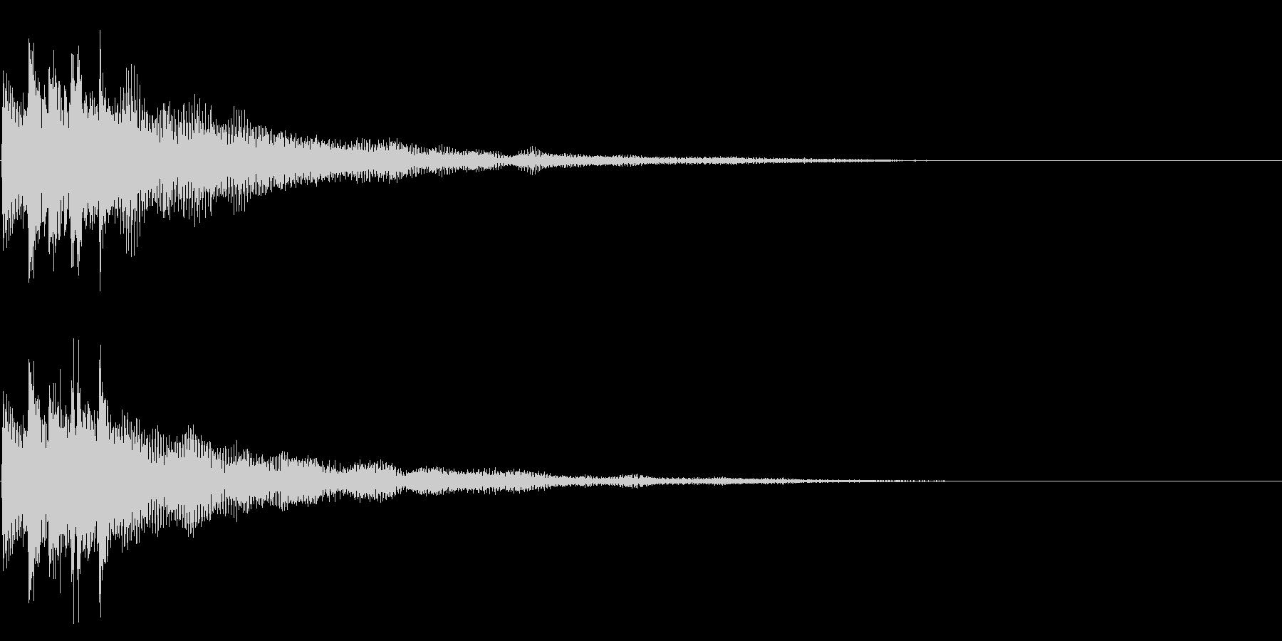 ピロン(決定/正解)の未再生の波形