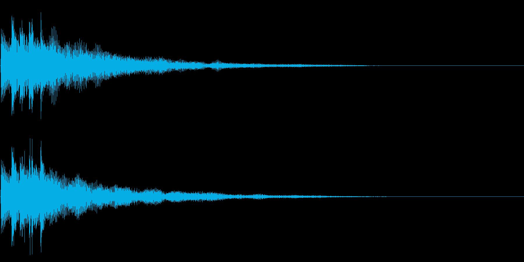 ピロン(決定/正解)の再生済みの波形