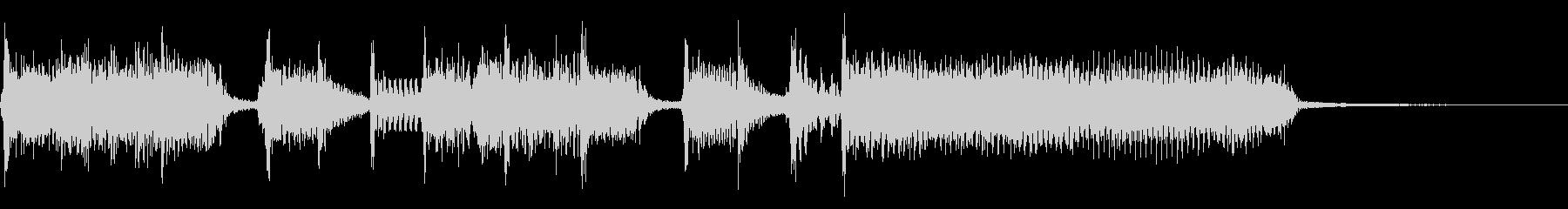 インパクトあるロックなジングル05の未再生の波形