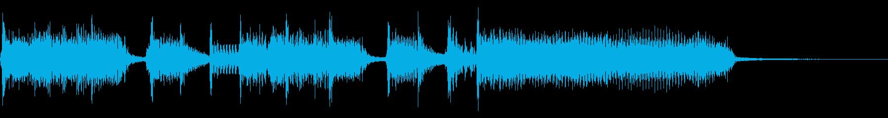 インパクトあるロックなジングル05の再生済みの波形