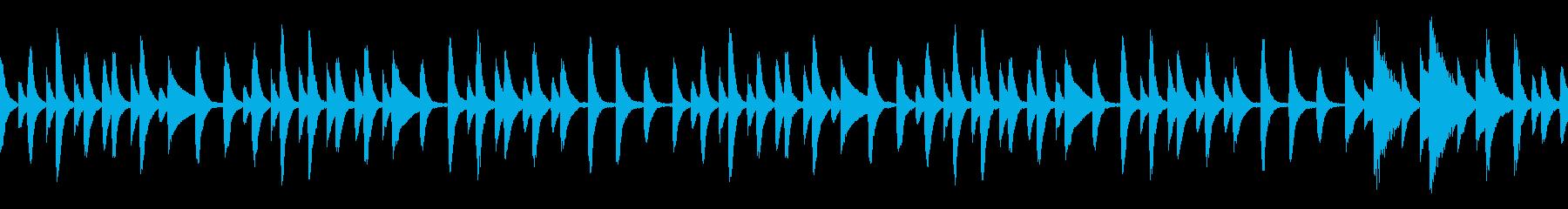 童謡「あめふり」ループ仕様ピアノソロの再生済みの波形