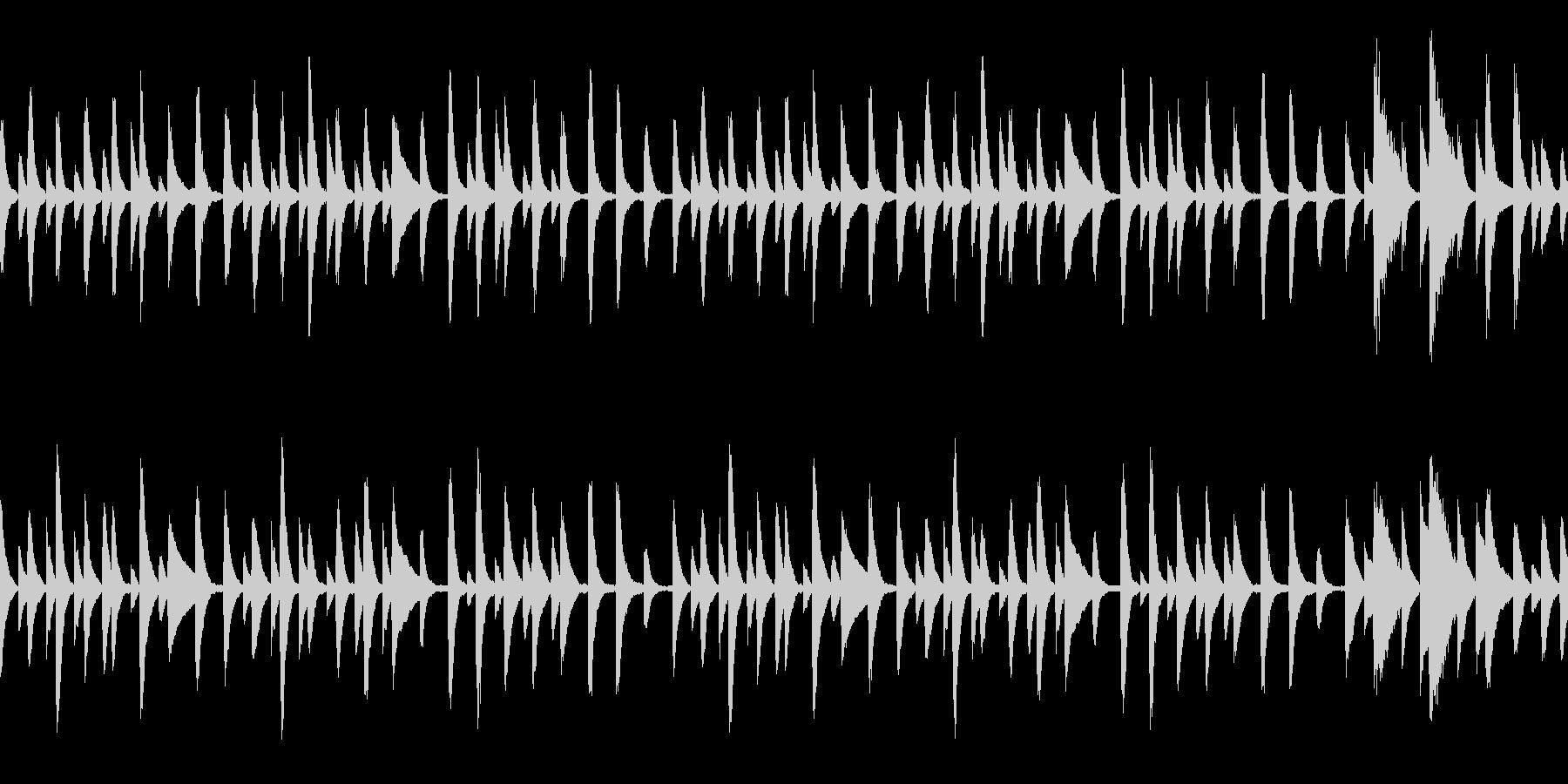 童謡「あめふり」ループ仕様ピアノソロの未再生の波形