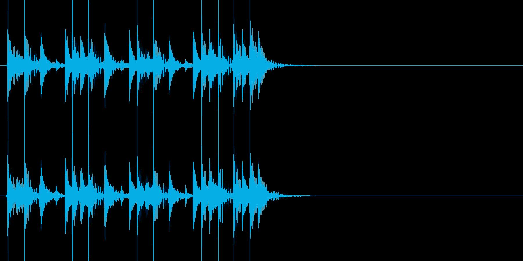 ドラムの短いジングルです。の再生済みの波形