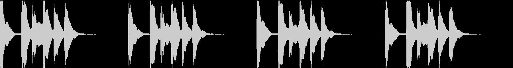 シンプル ベル 着信音 チャイム C10の未再生の波形
