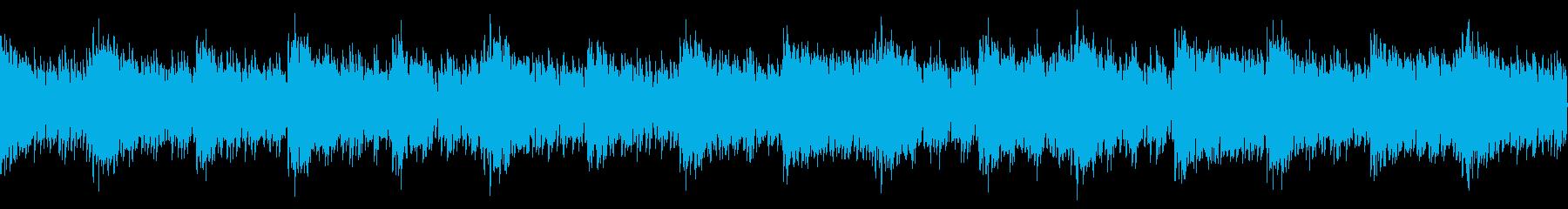 戦闘ゲームなどのタイトル画面に合う曲の再生済みの波形