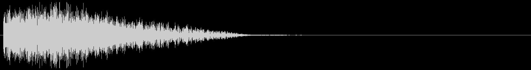 自機の消滅・特殊な爆発音#10の未再生の波形