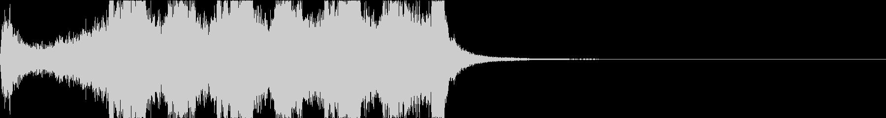 勝利時のファンファーレの未再生の波形