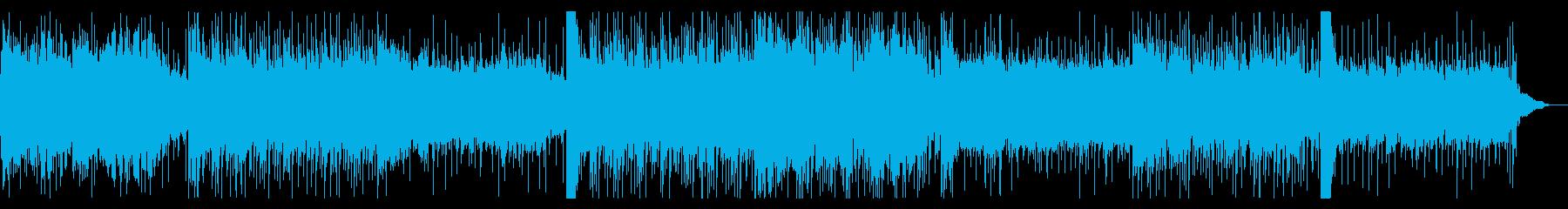 不思議な浮遊感のデジタルテクスチャーの再生済みの波形