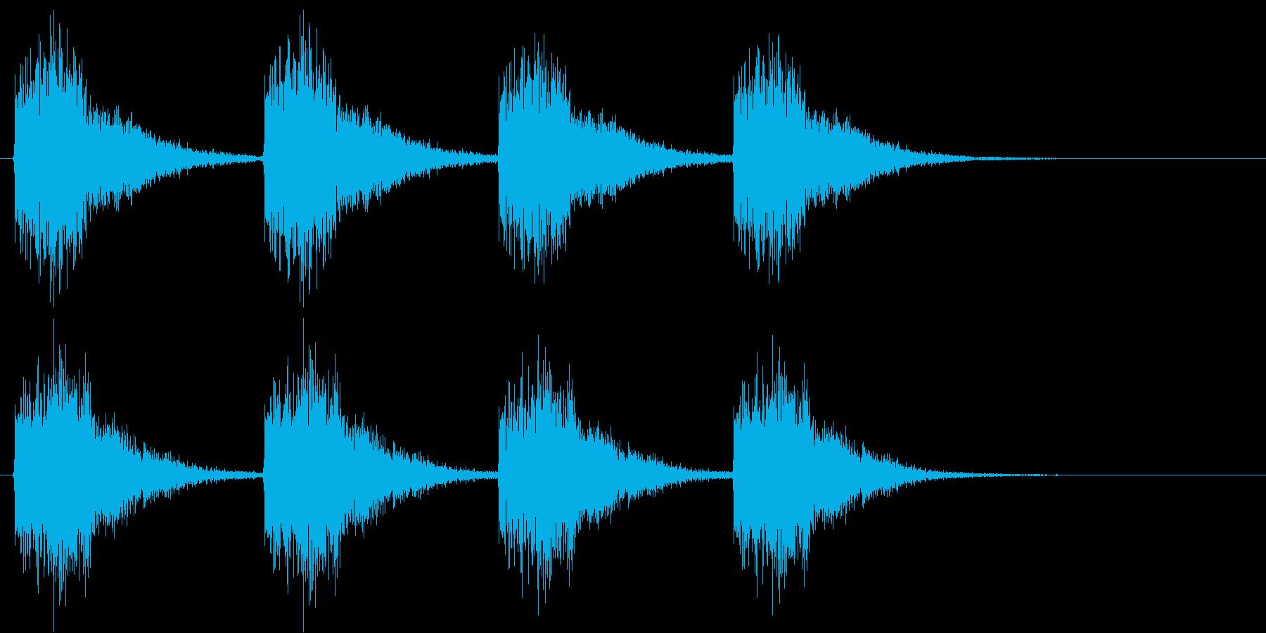 警告・警報・サイレン・ブザー#1(残響)の再生済みの波形