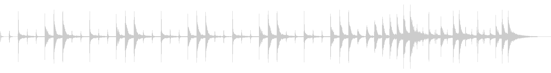 ブエノス・ディアス、遅いテンポから...の未再生の波形