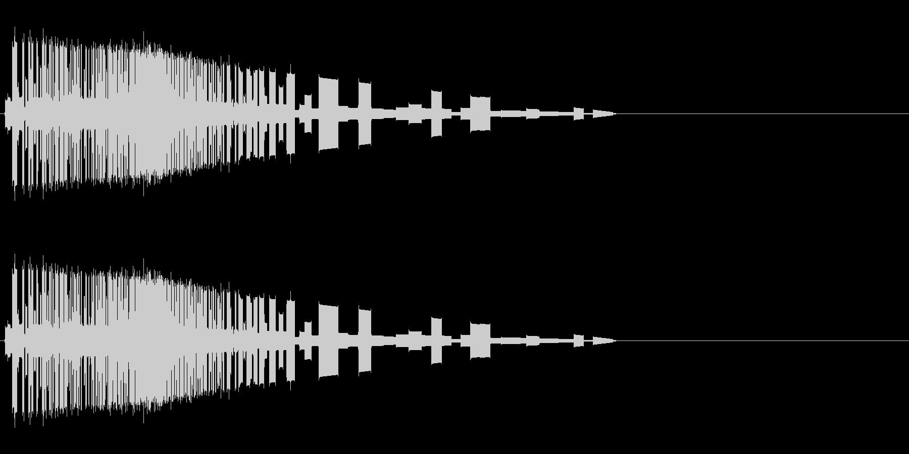 レトロゲーム風斬撃1の未再生の波形