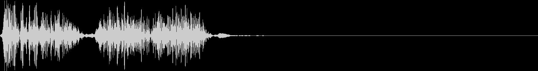 宇宙人の鳴き声3の未再生の波形