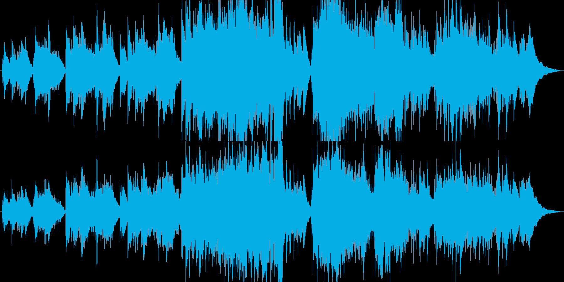 オルゴールがロマンチックな感動的な曲の再生済みの波形