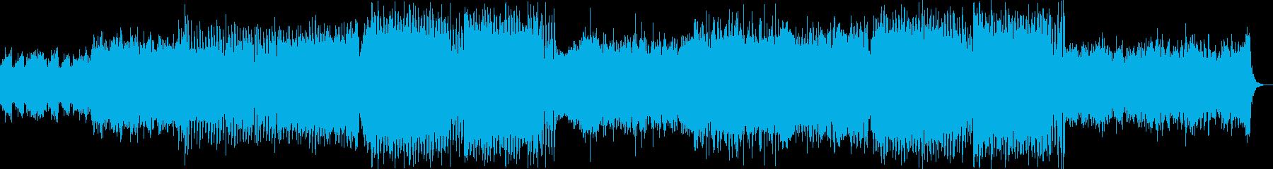 ストリングスとシンセメインの感情的EDMの再生済みの波形