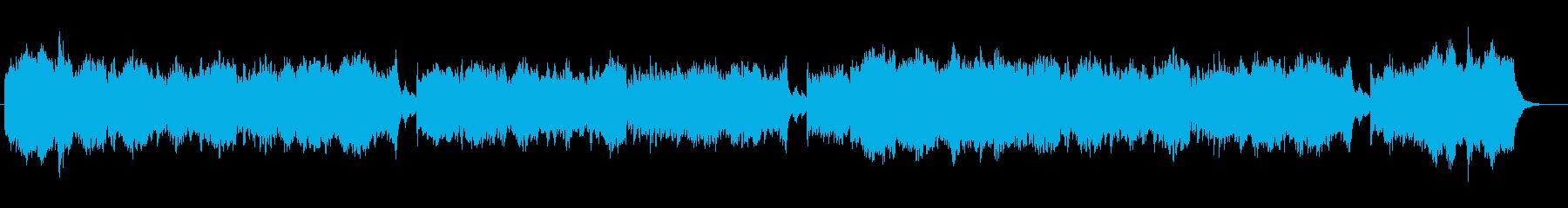 品のある切なげなシンセサイザー楽曲の再生済みの波形