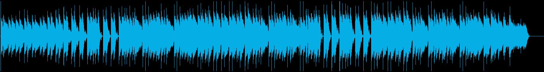 キーボードとストリングスの明るいポップスの再生済みの波形