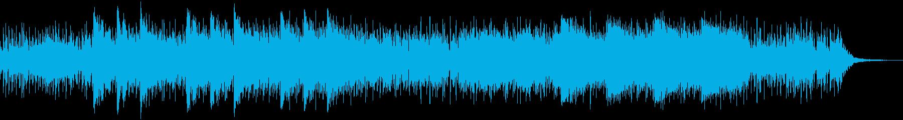 ミステリー感のあるシリアスな曲の再生済みの波形