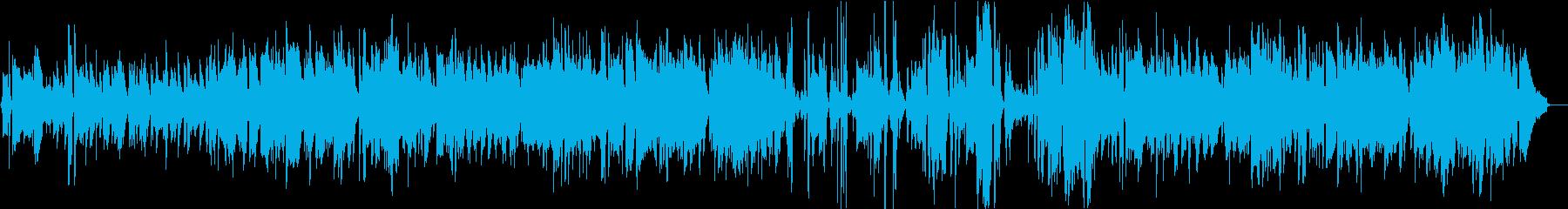 リラックスできるジャズワルツの再生済みの波形