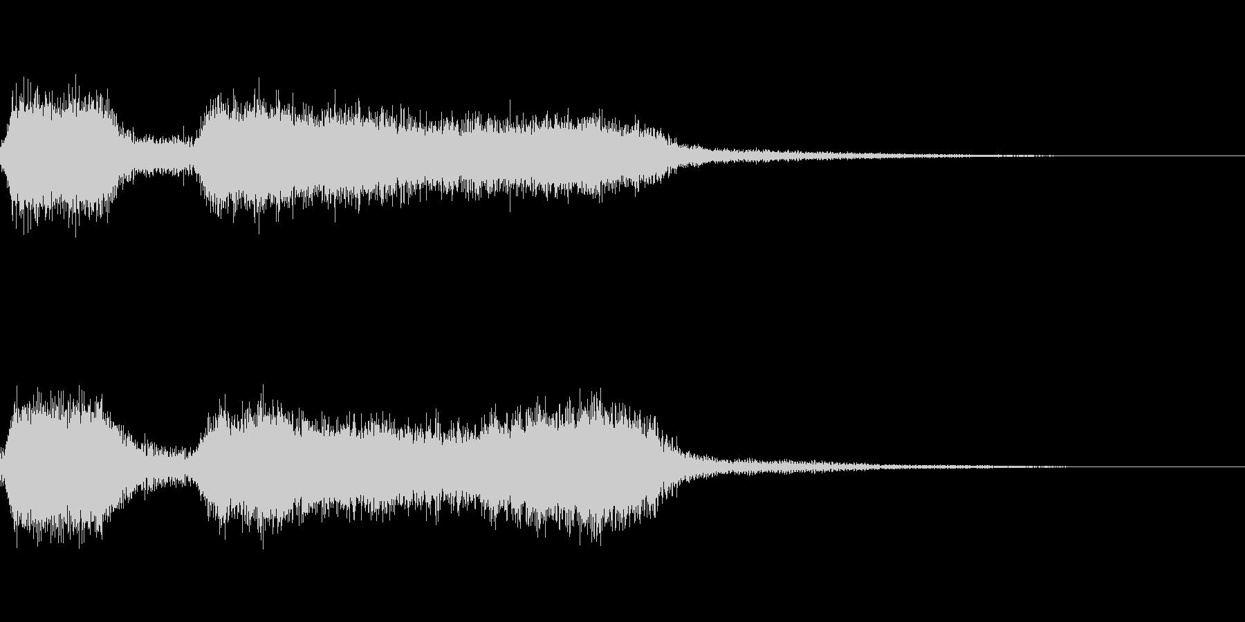 機関車 汽車などの汽笛の効果音 02の未再生の波形