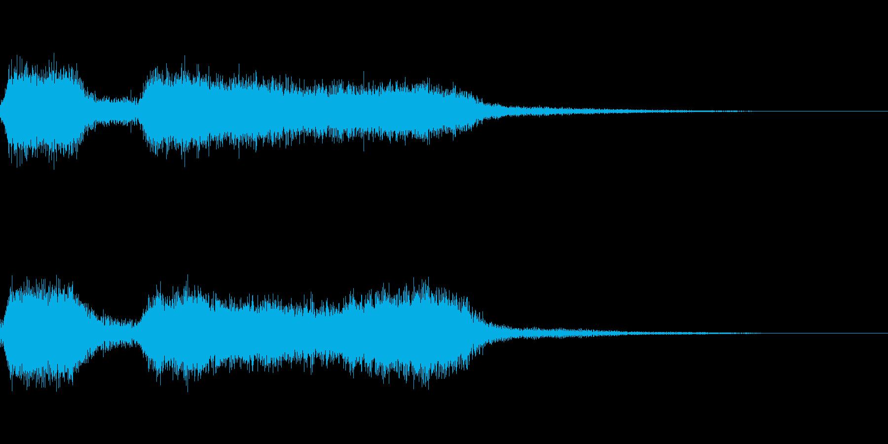 機関車 汽車などの汽笛の効果音 02の再生済みの波形