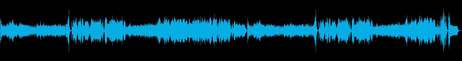 不気味な緊張感のある曲の再生済みの波形