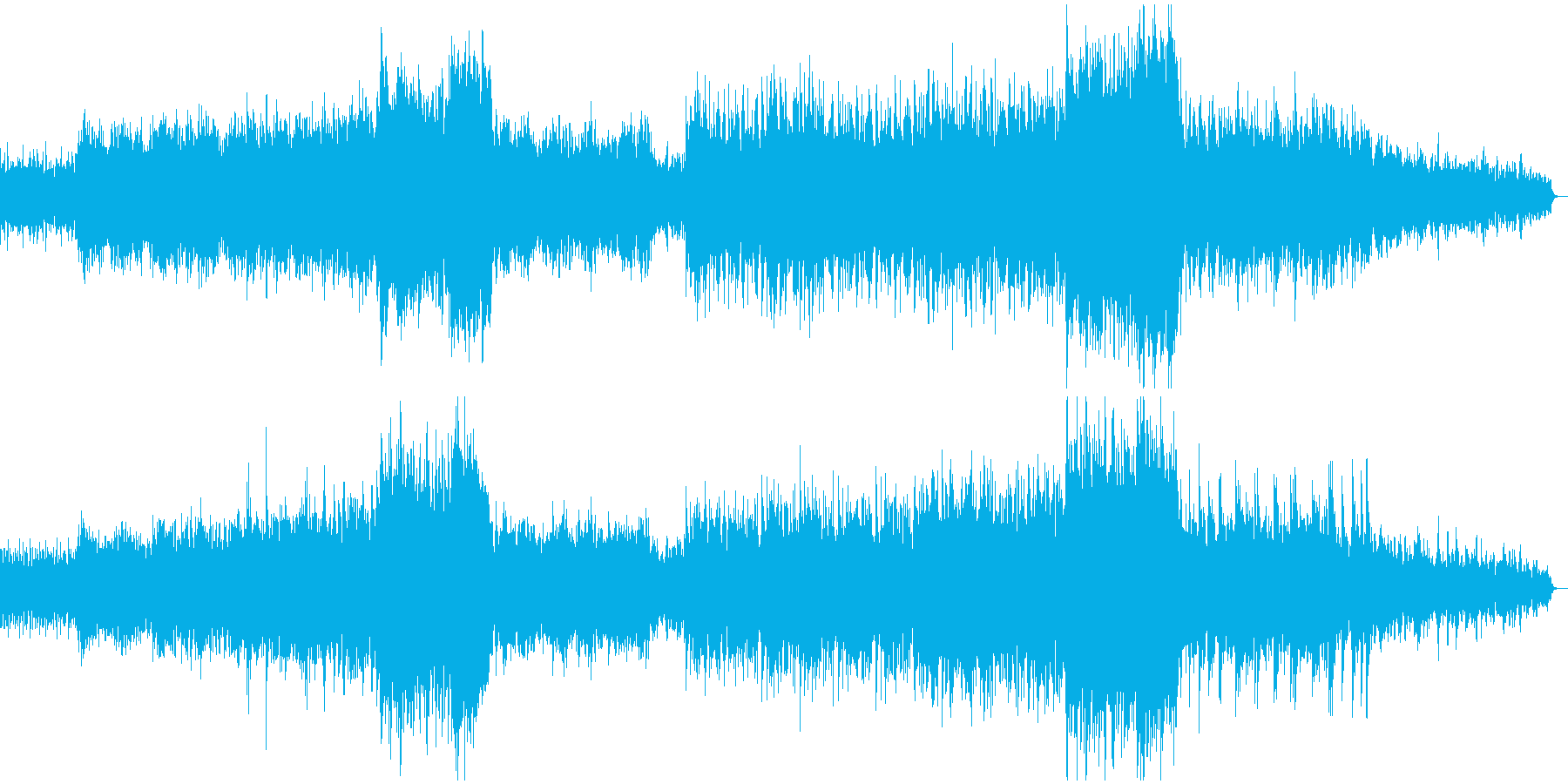壮大で響きがかっこいいメロディーの再生済みの波形