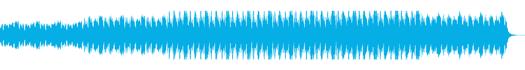 民族的なテンポの良い曲の再生済みの波形