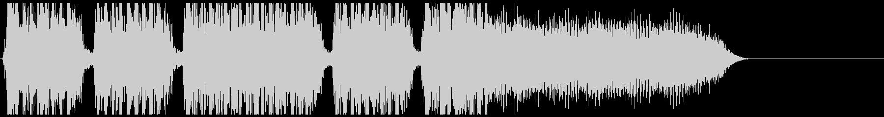 メタルコア系のジングル曲です。の未再生の波形
