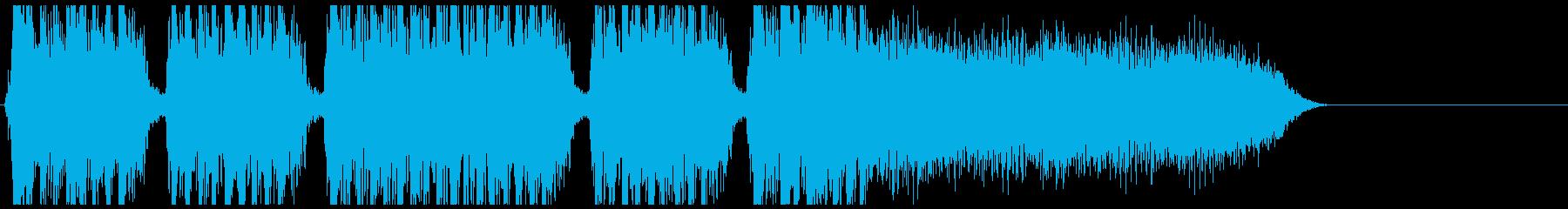 メタルコア系のジングル曲です。の再生済みの波形
