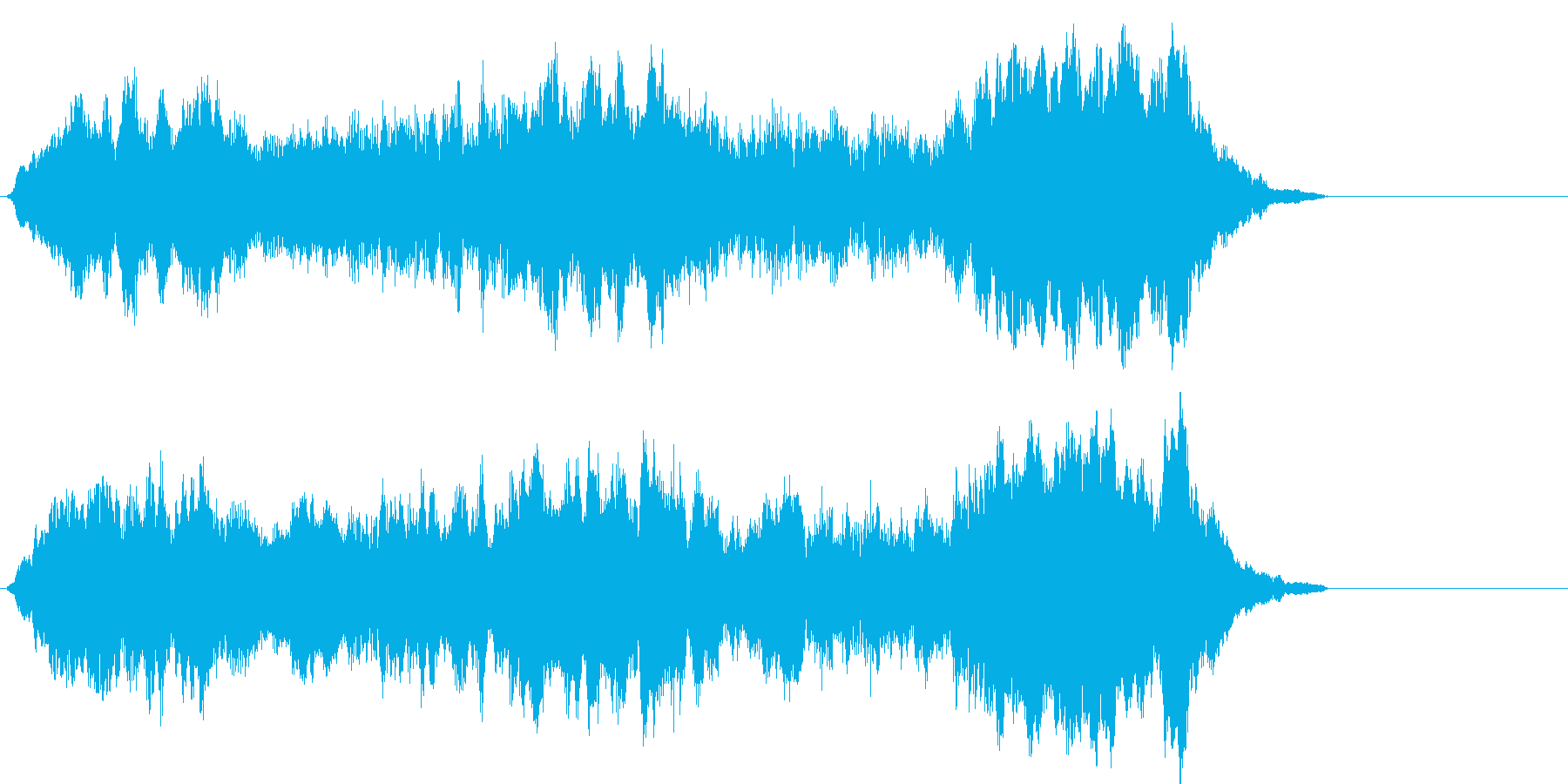 幻想的なシンセが特徴のジングルの再生済みの波形