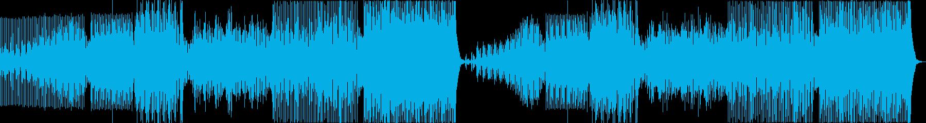 シンセベースを使ったロックなEDMの再生済みの波形
