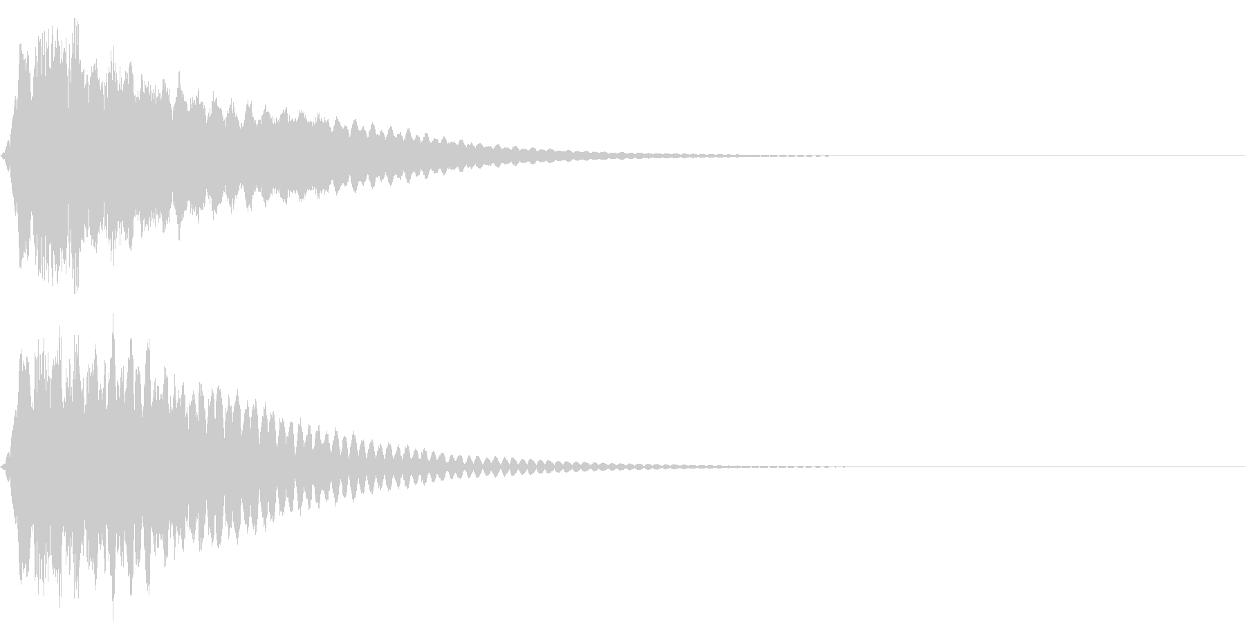 キュイン ボタン ピキーン キーン 17の未再生の波形