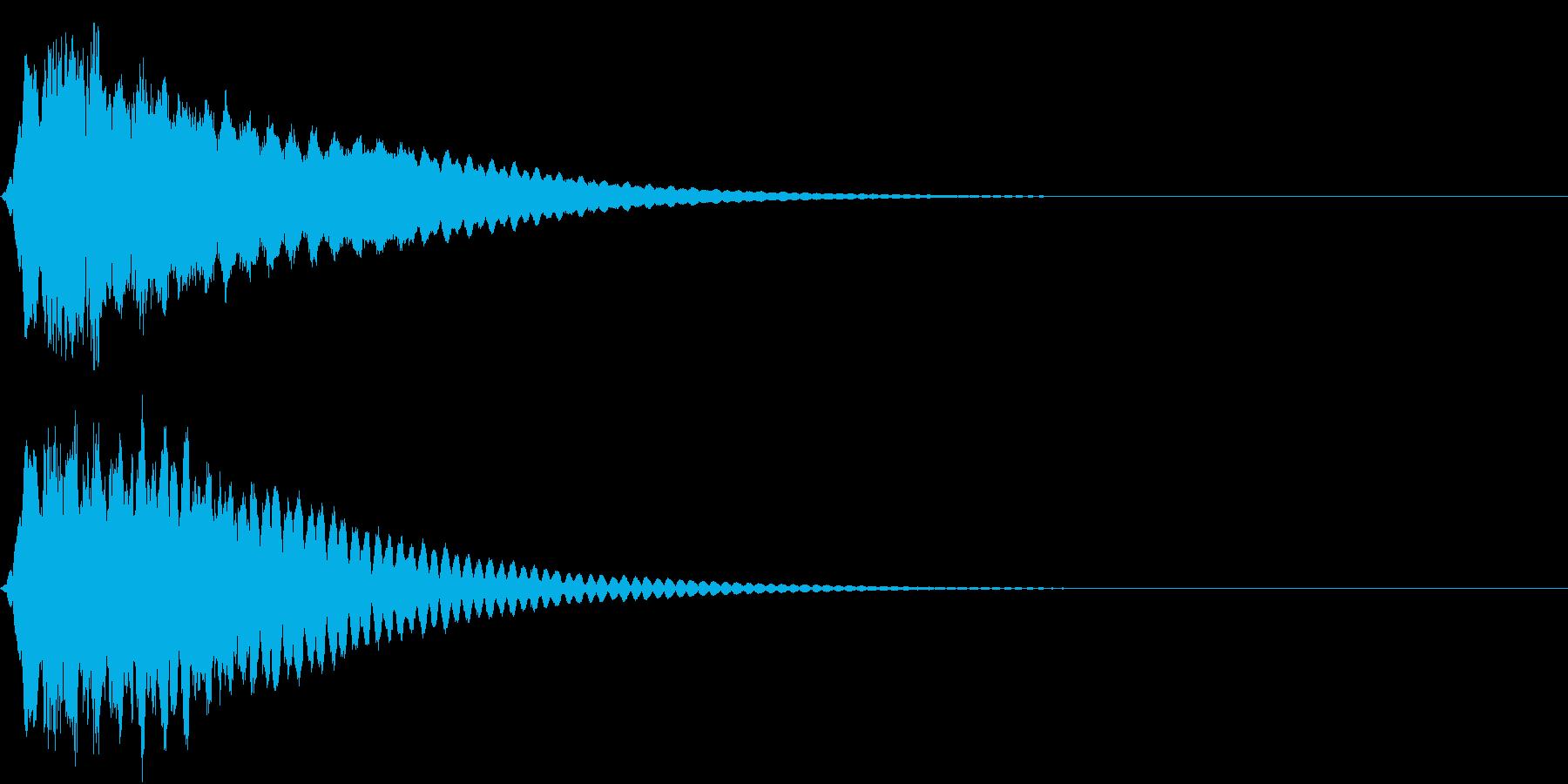 キュイン ボタン ピキーン キーン 17の再生済みの波形