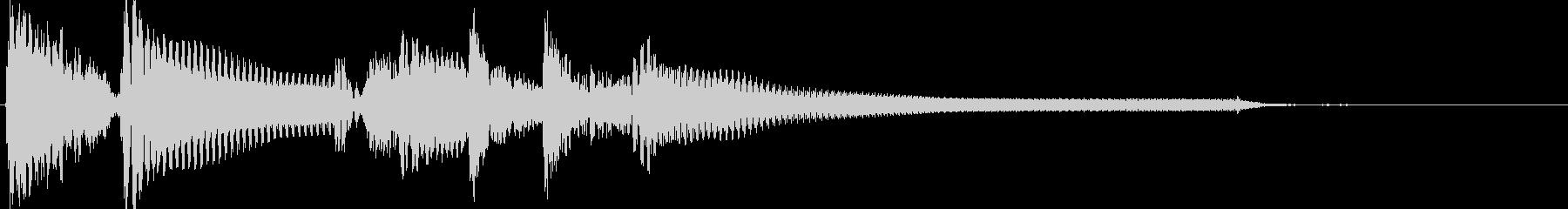ウッドベース切り替え場面ジングルの未再生の波形