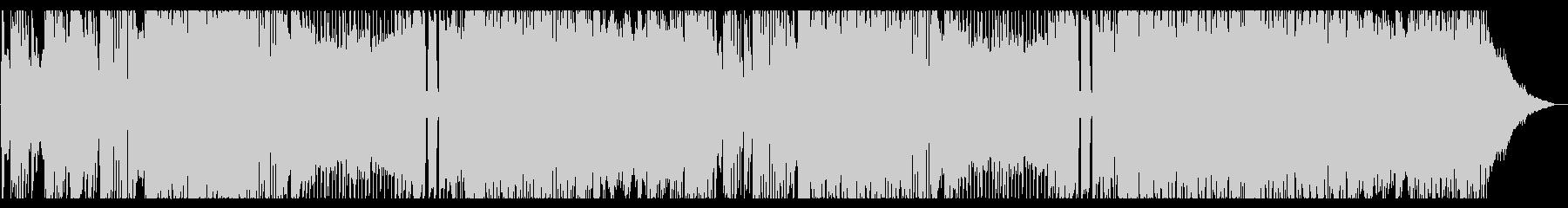 前向きメタル、プログレぽい4つ打ちビートの未再生の波形