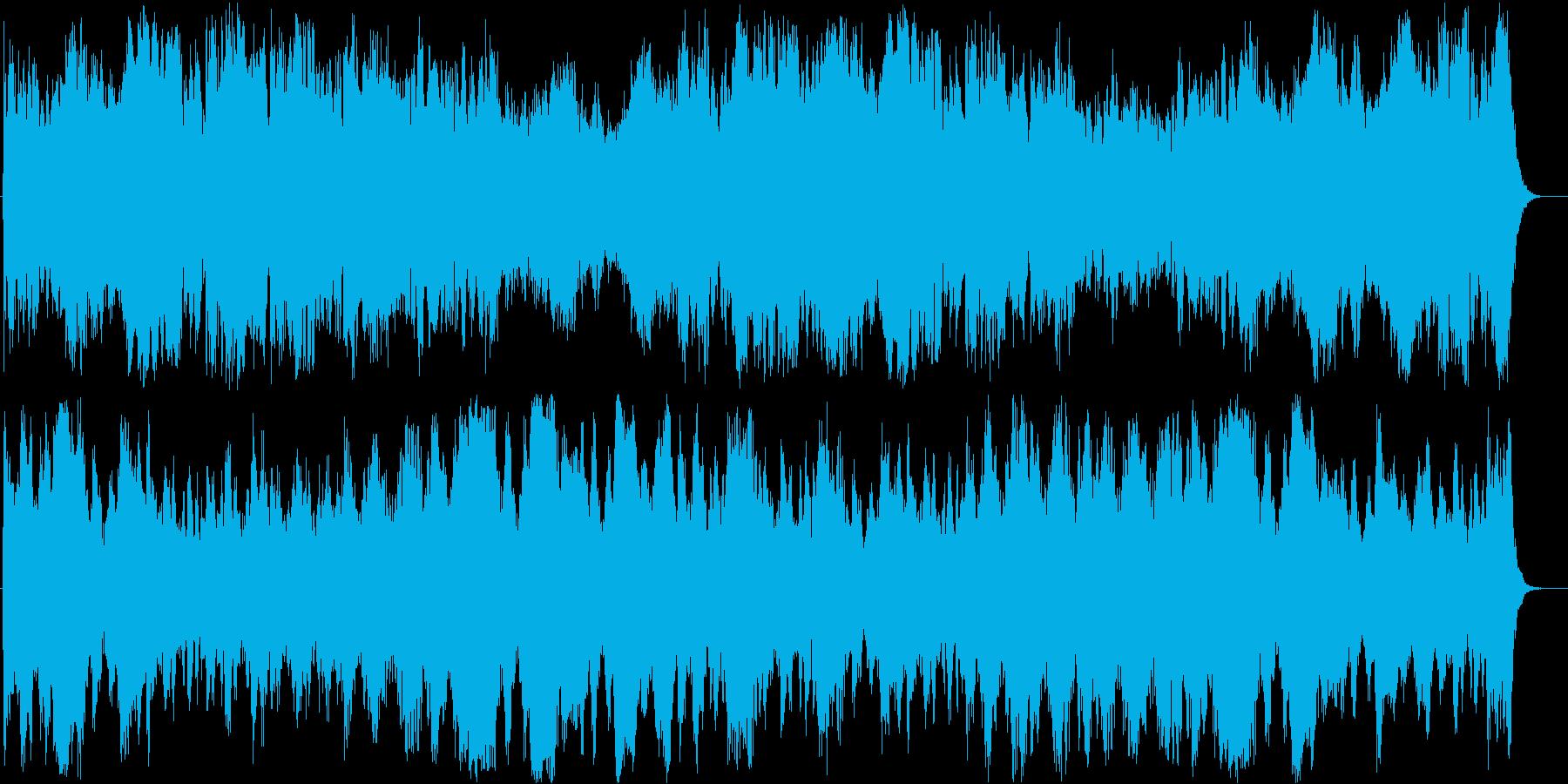 風の音が印象的なヒーリング音楽の再生済みの波形