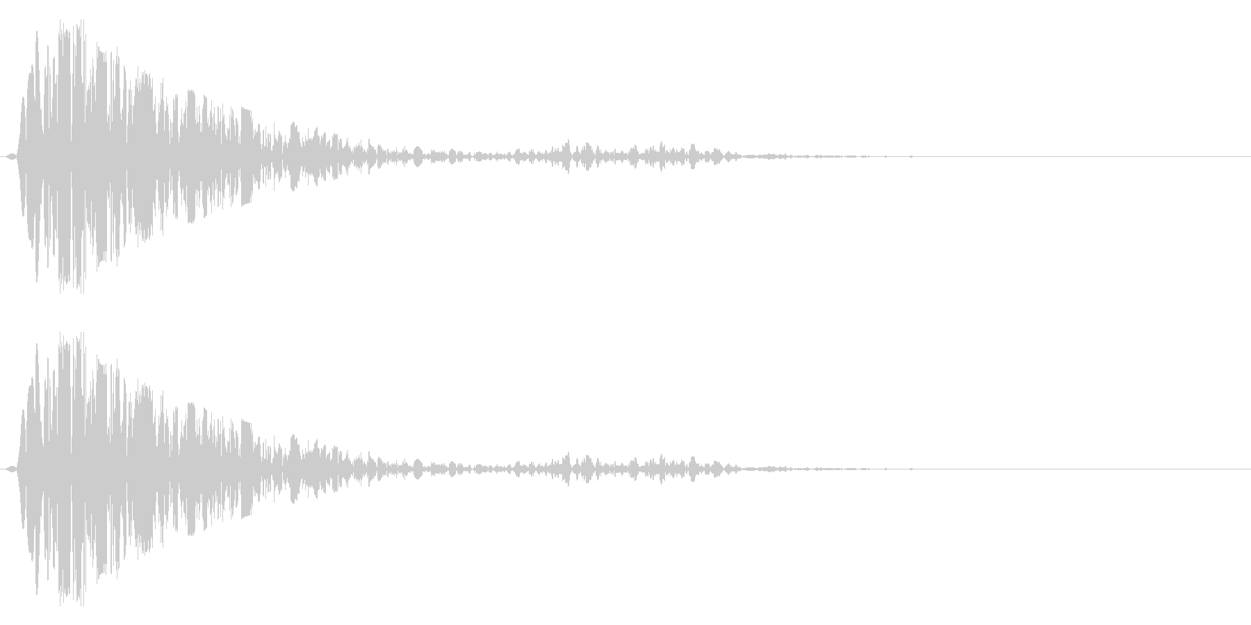 打撃(攻撃)を受け止めるイメージの未再生の波形